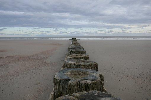 Beach, Wood, Sand, Sea, Wreck, Nature, Decay, Coast