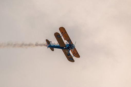 Boeing Stearman Pt-13d, Double Decker, Aircraft, Fly