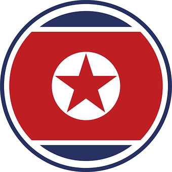 North Korean Flag, Symbol, Circle, Flag, North Korea