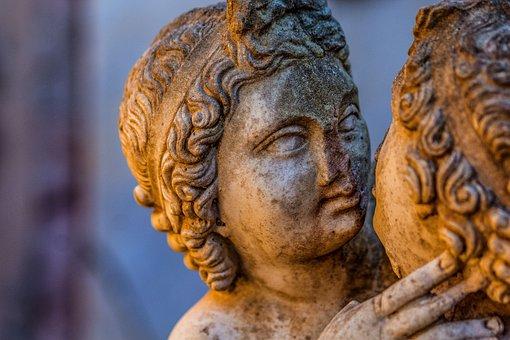 Ostia Antica, Love, Rome, Domus, Sculpture, Art