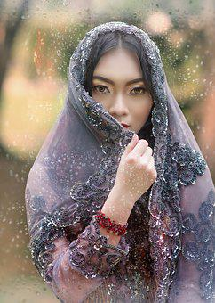 Woman, Youth, Veil, Stare, Young, Female, Girl, Fashion