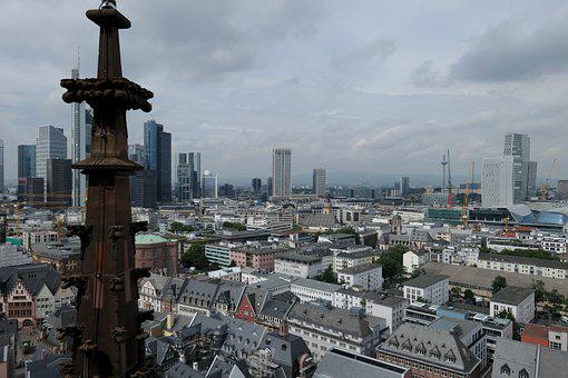 Old Town, Historic Old Town, Skyscraper, Ffm, Frankfurt