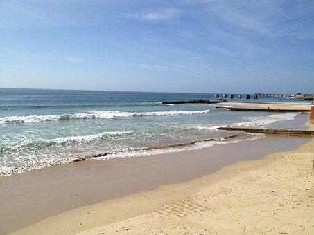 Beach, Wave, Sea, Coast, Horizon, Sand, Foam