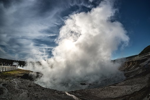 Yellowstone National Park, Yellowstone, Geyser, Sulfur