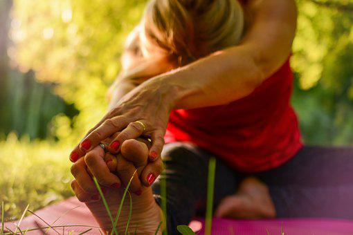 Yoga, Calm, Release, Stretching, Golden Hour, Nature