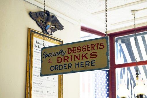 Ice Cream, Store, Shop, Shoppe, Sign, Dessert, Sweet