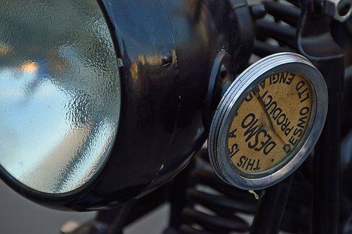 Engine, Lamp, Black, Old Timer, Metal, Instrument