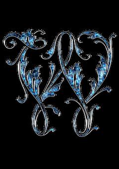 Letter, Letter W, W, Initials, Font, Alphabet