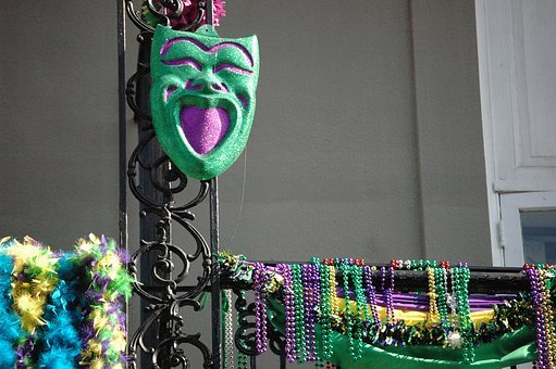 New Orleans, Mardi Gras, Beads, Mask, New, Orleans