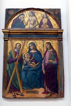Image, Art, Painting, Museum, Christmas, Maria, Jesus