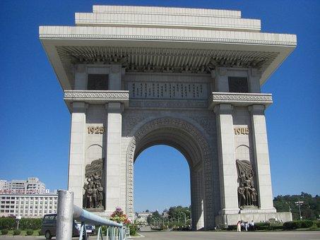 North Korea, The Arc De Triomphe, Pyongyang, Building
