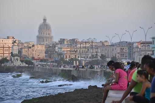 Cuba, Havana, Malecón, Architecture, Old, City, Habana