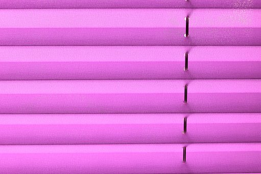 Pleated, Privacy, Window, Sun Protection, Pink, Fabric