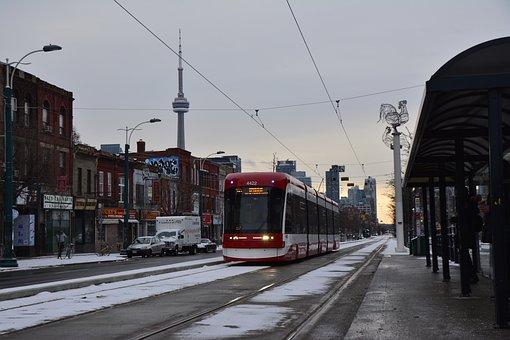 Canada, Toronto, Tram, Street, Urban, Public, City