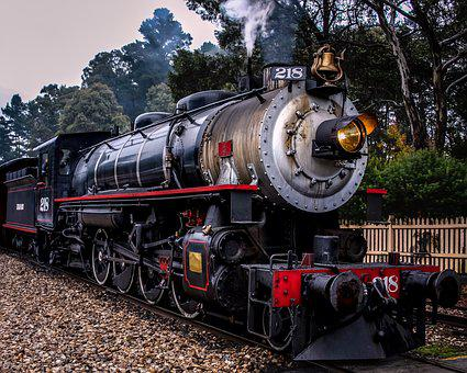 Steam Train, Railway, Black, Train, Steam, Locomotive