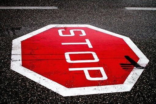 Stop, Road, Road Sign, Dangerous Intersection, Junction