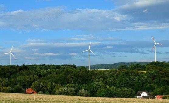 Windräder, Landscape, Verspargelung, Wind Energy
