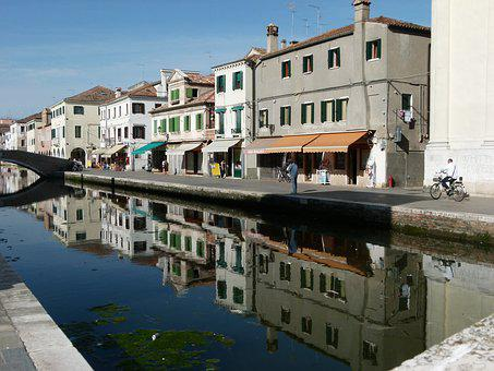 Chioggia, Channel, Water, Houses Italy
