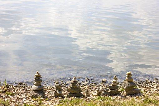 Lake, Gravel, Lakeside, Nature, Waterfront, Mood, Water