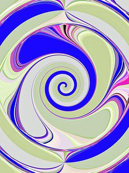 Spiral, Wave, Abstract, Pattern, Lines, Background