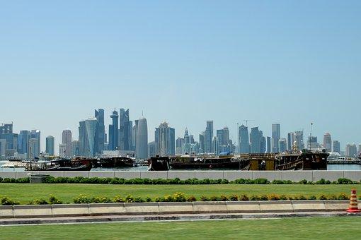 Doha Skyline, Skyline, Doha, City, Architecture, Qatar
