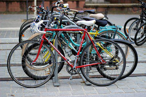 Bicycles, Bike, Stand, Turned Off, Freiburg, Wheel