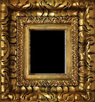 Png, Golden Frame, Gold, Box Golden, Box