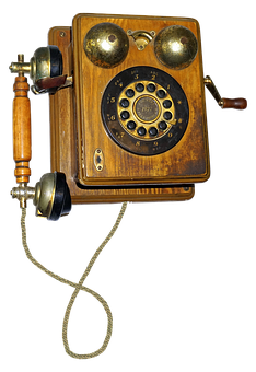 Phone, Old, Wood, Dial, Built In 1927