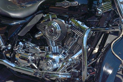 Motorcycle, Engine, Chopper, Motor, Bike, Vehicle