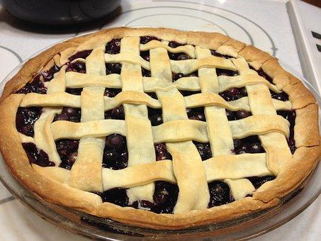 Pie, Blueberry, Baking, Dessert