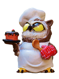 Owl, Bake, Cook, Figure, Cute, Funny, Sweet, Baked, Fun