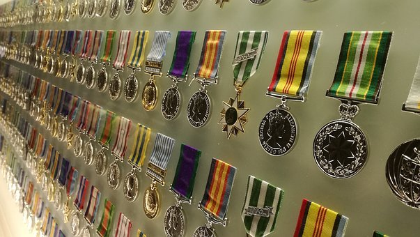 Medals, Military, War, Hero, Courage, Ribbon, Icon