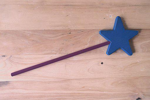 Magic Wand, Wand Wood, Background Wood, Wand Of Fairy