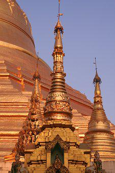 Myanmar, Burma, Light, Nice View, Travel, Pagoda, Gold