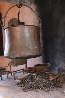 Cook, Cooking Zone, Fireplace, Oven, Boiler, Pot, Old