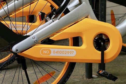 O-bike, Rental Bike, Chain Guard, Pedals