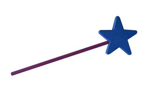 Png, Magic Wand, Wand Blue, Juquete, Juquete Wood