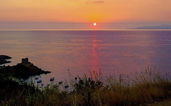 Sunset, Sea, San Nicola Arcella, Calabria, Italy