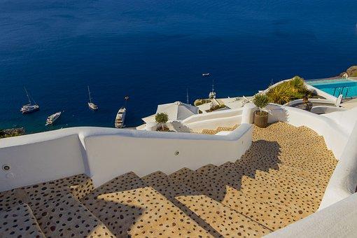 Santorini, Greece, Landscape, Heat, The Coast