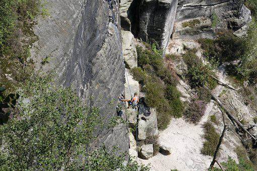 Saxon-switzerland, Saxon Switzerland, Saxony, Climb