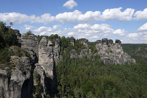 Saxon-switzerland, Saxon Switzerland, Saxony, Rock