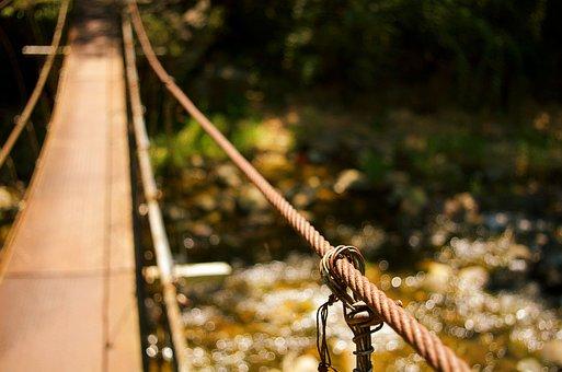 Bridge, Shake, Rope, Suspension Bridge, Streams