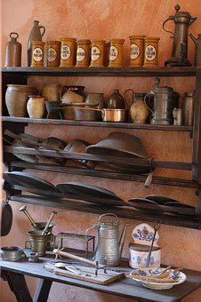 Cook, Shelf, Furniture, Cabinet, Spices