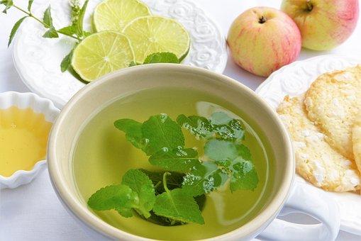 Tee, Teacup, Herbs, Mint, Balm, Peppermint, Apple Mint