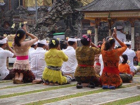 Indonesia, Bali, Temple, Religion, Women, Colorful