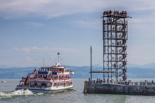 Moleturm, Friedrichshafen, Lake Constance, Tower, View