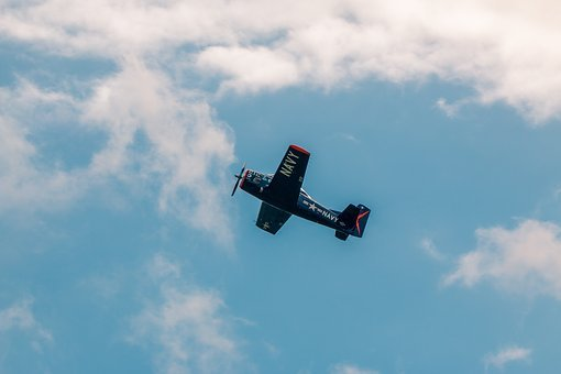 North American T-28b, Aircraft, Fly, Flugshow