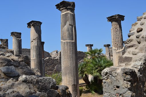 Columns, Italy, Archaeology, Ruins, Romans, Antique