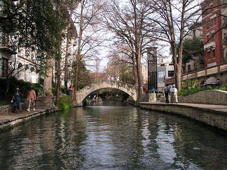 San, Antonia, River, Walk, City, Historic