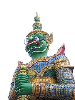 Giant, Wat Arun, Statue, Buddhism, Thailand Art, Faith
